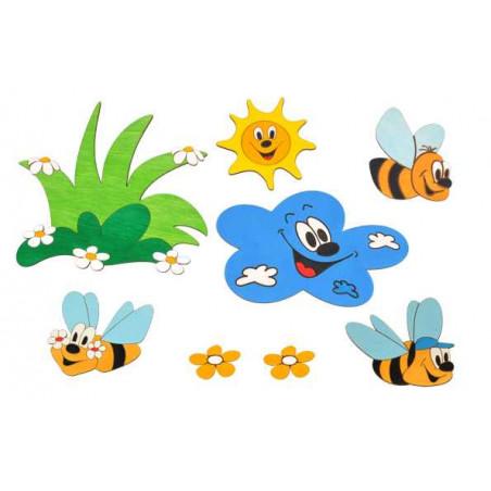 Sestavy dekorací Louka včelky