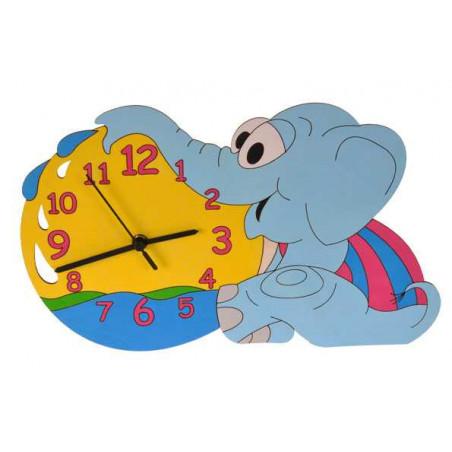 Dětské dřevěné hodiny - Slůně