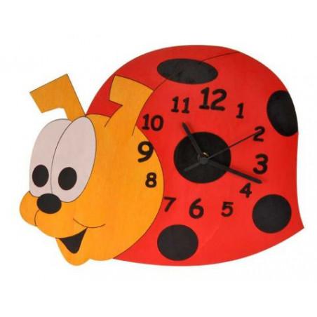 Dětské dřevěné hodiny - Beruška