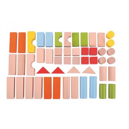 Bigjigs barevné kostky v kyblíku 50 ks