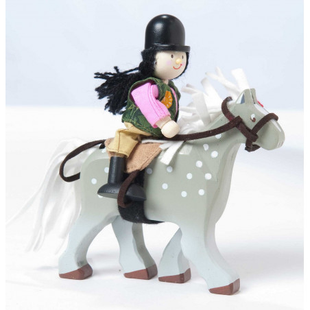 Le Toy Van postavička - Koníček šedý
