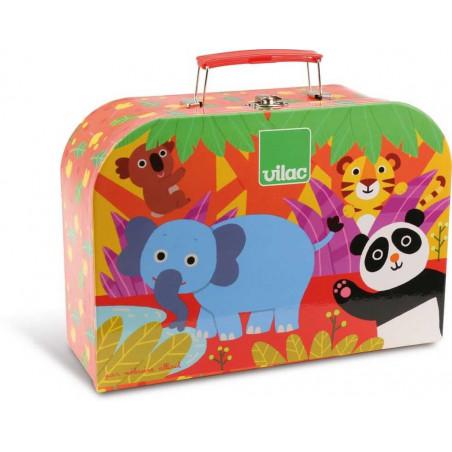 Vilac čajový set se zvířátky v kufříku