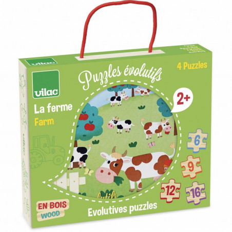 Vilac dřevěné puzzle - Farma 4v1