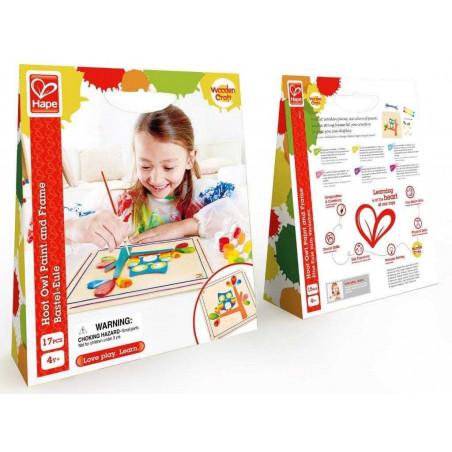 HAPE dřevěné hračky - vytvoř si vlastní obrázek - sova