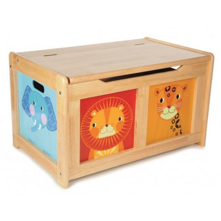 Tidlo dřevěná úložná lavice Animal přírodní