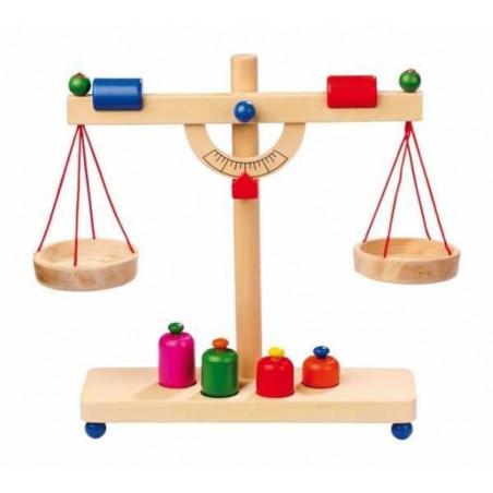 Legler dřevěné hračky pro holky - Kuchyně - Dřevěná páková váha