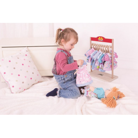 Bigjigs Toys růžové pyžamo pro panenku 28 cm
