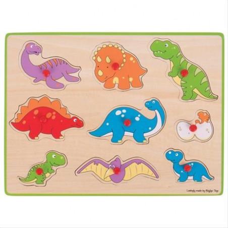 Bigjigs Toys vkládací puzzle dinosauři
