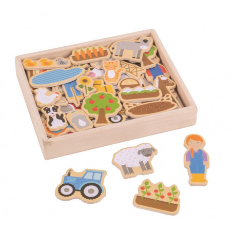 Bigjigs Toys - magnetky farma