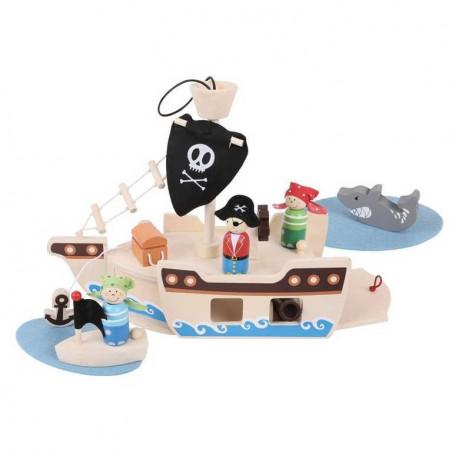 Bigjigs Toys Dřevěná hračka - Hrací set Piráti