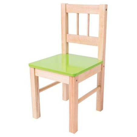 Bigjigs Toys dřevěná židle zelená