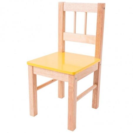Bigjigs Toys - Dřevěná židle žlutá