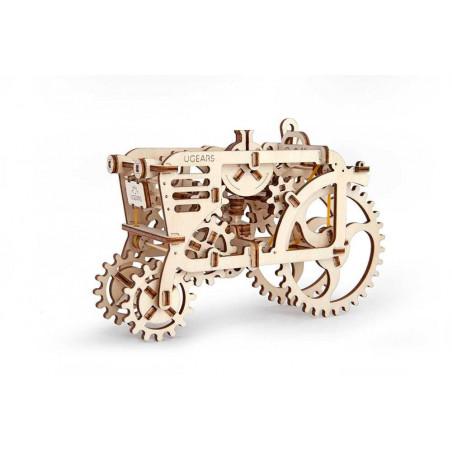 Ugears dřevěná stavebnice 3D mechanické Puzzle - Traktor