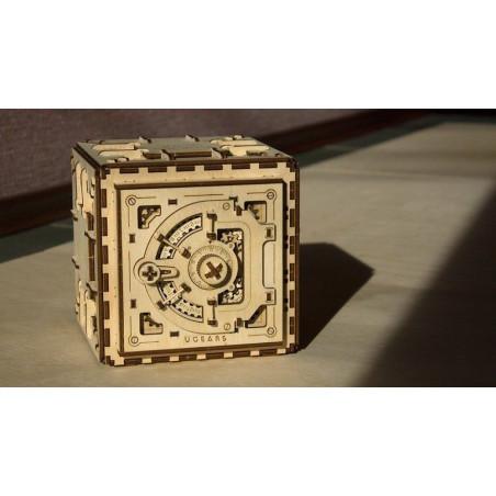 Ugears Dřevěná stavebnice 3D mechanické Puzzle Trezor