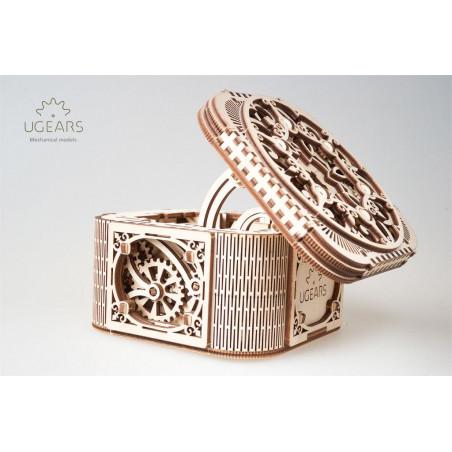Ugears Dřevěná stavebnice 3D mechanické Puzzle Šperkovnice
