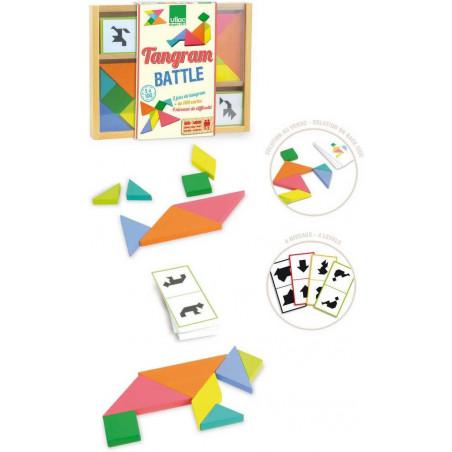 Vilac Dřevěná hračka - Dřevěný tangram