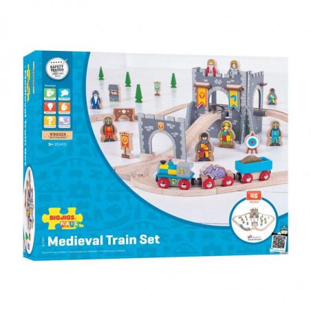 Bigjigs Rail středověká dřevěná vláčkodráha