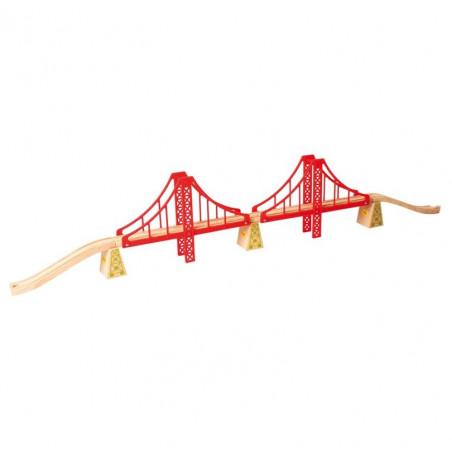 Dřevěné vláčkodráhy Bigjigs - Dvojitý železniční most