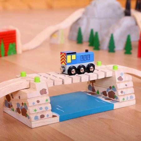 Dřevěné vláčkodráhy Bigjigs - Houpací most přes řeku