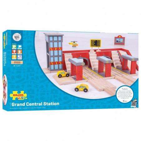Bigjigs Rail vláčkodráha - Nádraží Grand central station
