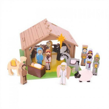 Bigjigs Toys dřevěné hračky - Betlém pro nejmenší