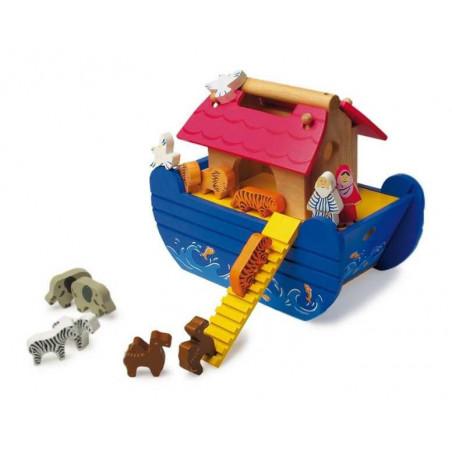 Legler Dřevěná Noemova archa modrá