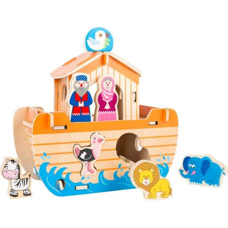 Small Foot Dřevěná vkládačka Noemova archa