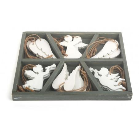 Dřevěné vánoční ozdoby Anděl