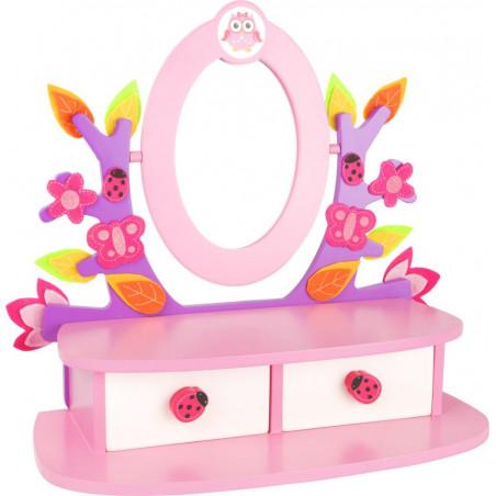 Legler Dřevěný kosmetický stoleček růžový