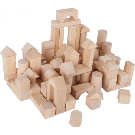 Legler Dřevěné kostky přírodní 100ks