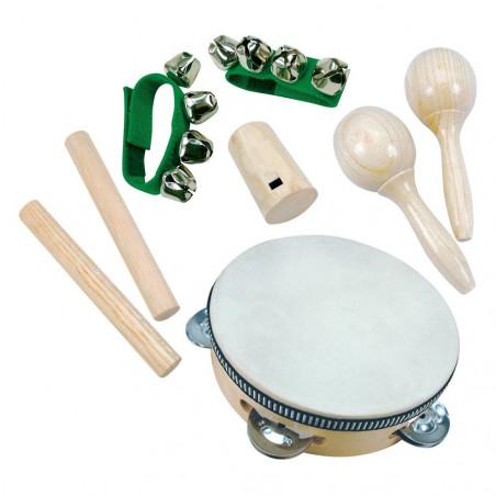 Bino Dřevěné hračky - hudební nástroje - Mini-orchestr, 8 dílu
