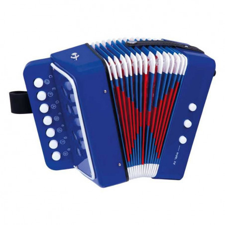 Bino Dřevěné hračky - hudební nástroje - Tahací harmonika