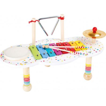Legler Dřevěný muzikální hudební stoleček s puntíky
