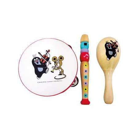Bino Dřevěné hračky - hudební set Krtek