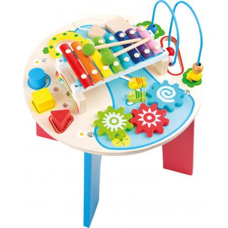 Legler Dřevěný motorický muzikální stůl 2v1