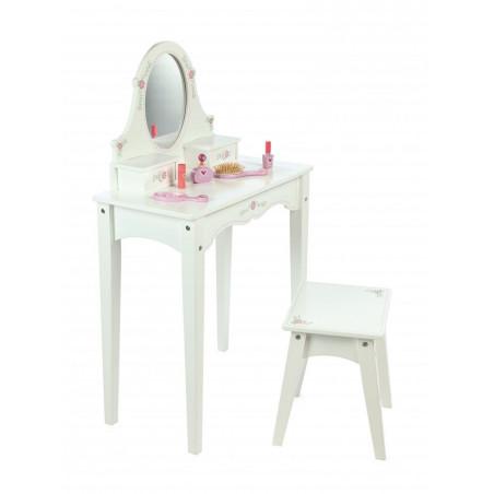 Tidlo dřevěný kosmetický stoleček bílý