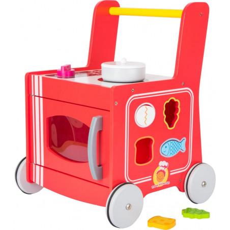 Legler Dřevěný vozíček kuchyňka červená