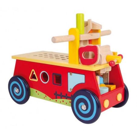 Legler Dřevěné hračky - Motorický vozík Pracovní stůl