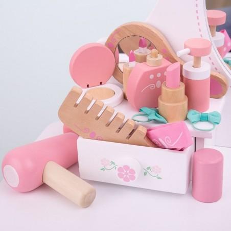 Bigjigs Toys dřevěná kosmetická souprava v taštičce