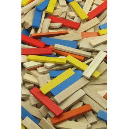 Vilac Dřevěné barevné kostky 100 dílů
