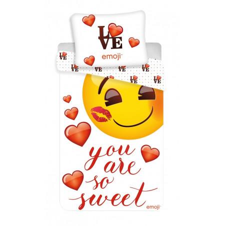 """Povlečení Emoji """"You are so sweet"""" 140x200, 70x90 cm"""
