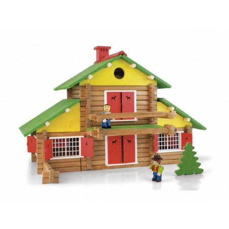 Dřevěná stavebnice Jeujura - 240 dílů