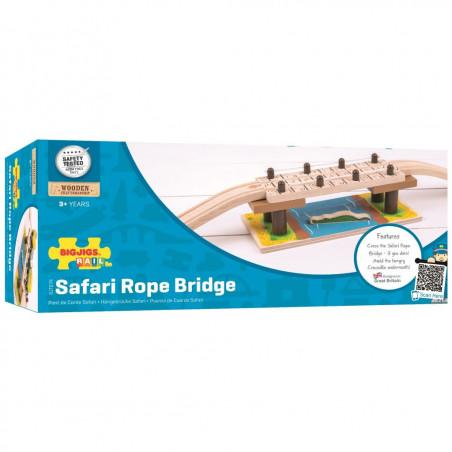 Bigjigs Dřevěné vláčkodráhy - Most Safari