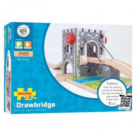 Bigjigs Dřevěná vláčkodráha - Padací most