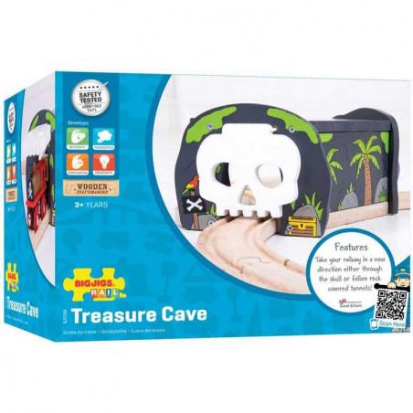 Bigjigs Rail vláčkodráha - Tunel s výhybkou - Jeskyně lebka