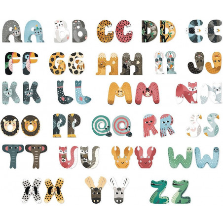 Vilac Zvířátková abeceda 1ks písmenko J