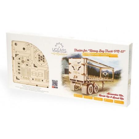 Ugears Dřevěná stavebnice 3D mechanické Puzzle Přívěs Heavy Boy