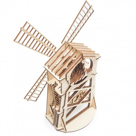 Wood Trick 3D mechanické puzzle Mlýn WT1 76 dílů