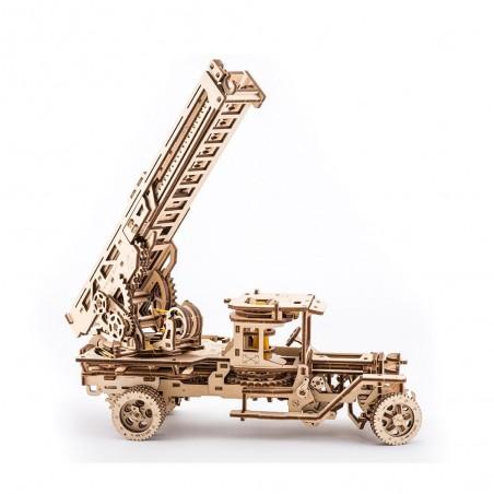Ugears 3D mechanické puzzle Truck UGM-11 s požárním žebříkem 537 dílů
