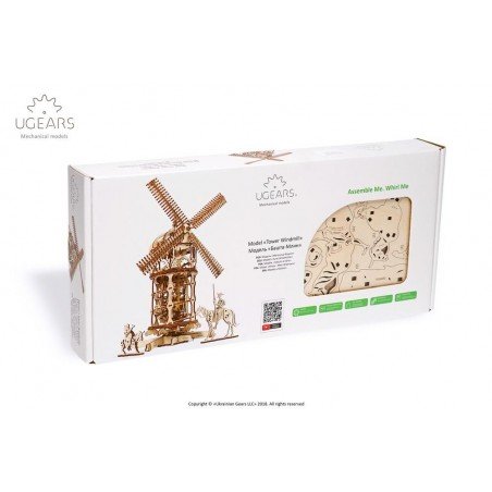 Ugears 3D mechanické puzzle Větrný mlýn 585 dílů